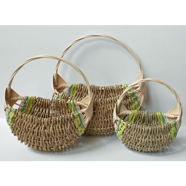 Half Basket – Lime/Aqua